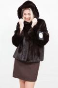 (SOLD) Dark Brown Long Mink Jacket