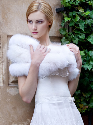 Mariage en fourrure - Etole mariage hiver ...
